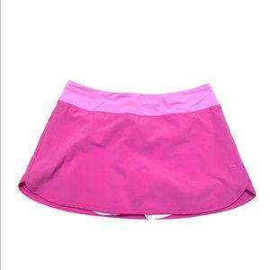 Lululemon pink tennis skirt mid rise